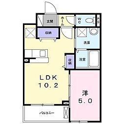 南清和園町アパート[0202号室]の間取り