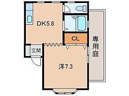 スカイラーク12[1階]の間取り