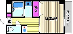 兵庫県芦屋市春日町の賃貸マンションの間取り