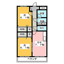 リーベカマイIII[1階]の間取り