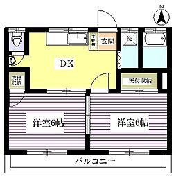敬愛レジデンス1号棟[2階]の間取り