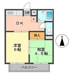東京都葛飾区鎌倉1丁目の賃貸マンションの間取り