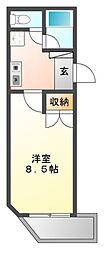WING CK ビル[5階]の間取り