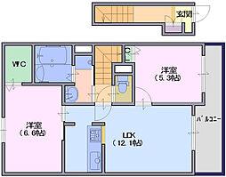 ベルオーブ7[2階]の間取り