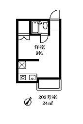 メールメゾン・シマ[203号室]の間取り