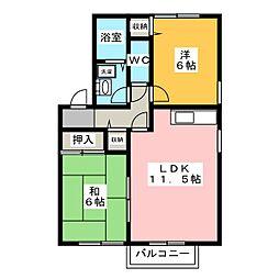瑞穂パークハイツ B棟[2階]の間取り
