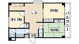 パークサイドマンション[3階]の間取り