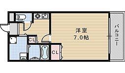 ソミュール南栄[204号室]の間取り