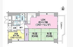 本郷壱岐坂ハイツ[5F号室]の間取り
