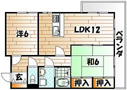 福岡県北九州市八幡西区平尾町の賃貸マンションの間取り