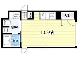 COZY菊井 5階ワンルームの間取り