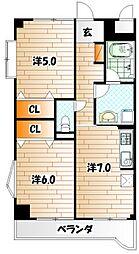 プリムヴェール[2階]の間取り