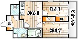 タクシンビル[2階]の間取り