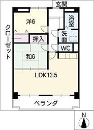 サンモール茂[2階]の間取り