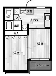 さがみスクエア[3階]の間取り
