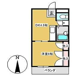 エクセレント B棟[106号室]の間取り