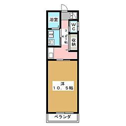 エル・パラレオ錦野[1階]の間取り