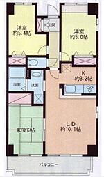二俣川駅徒歩9分 パルティール本村1階[1階]の間取り