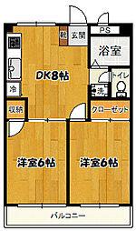第2泉ビル[302号号室]の間取り