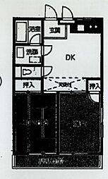 カターラ梶[2階]の間取り