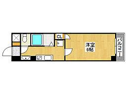 PALMIZIO鶴橋[2階]の間取り