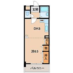 レディスマンション砂山南[3階]の間取り