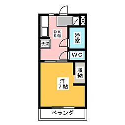 ハイツ赤とんぼ[3階]の間取り