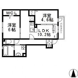 メゾンド・和[108号室号室]の間取り