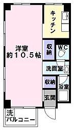 兵庫県神戸市中央区中山手通7丁目の賃貸マンションの間取り