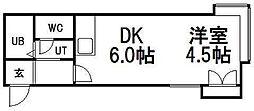 グランステージ円山公園III[203号室]の間取り
