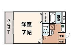 ニュープレジデント藤澤[402号室]の間取り