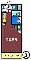 ストーンフィールドNo5[203号室]の間取り