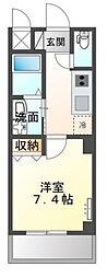 (仮称)堺市堺区向陵中町3丁新築賃貸マンション 2階1Kの間取り