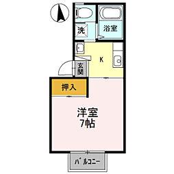 コーポトゥインクル[1階]の間取り