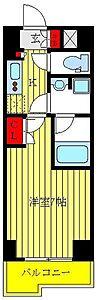 間取り,1K,面積25.42m2,賃料7.1万円,都営三田線 高島平駅 徒歩6分,都営三田線 新高島平駅 徒歩13分,東京都板橋区高島平8丁目32番地14号