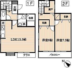 [テラスハウス] 東京都府中市南町2丁目 の賃貸【/】の間取り