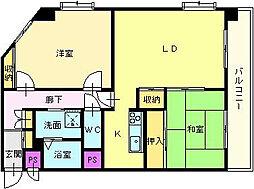 サンライフマンション[4階]の間取り