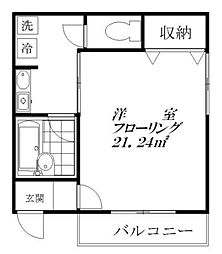 東京都板橋区板橋4丁目の賃貸アパートの間取り