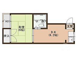 エクセレント舟田 2[2階]の間取り