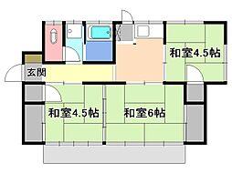 [一戸建] 栃木県宇都宮市花園町 の賃貸【/】の間取り
