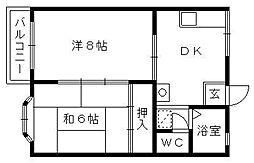 メゾン佐藤[2階]の間取り