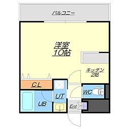 レフィナード新札幌[2階]の間取り