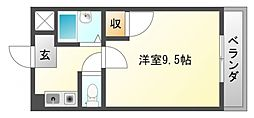 朝日が丘尾田ハイツ[1階]の間取り