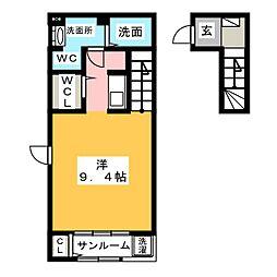 サンエルフⅣ[2階]の間取り