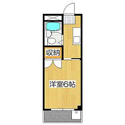 伏見上野ハイツ[4階]の間取り