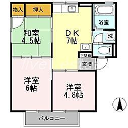 ハイム屋島[2階]の間取り