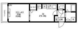 都営三田線 西巣鴨駅 徒歩2分の賃貸マンション 2階1DKの間取り
