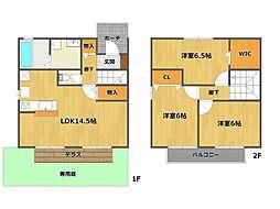 [タウンハウス] 兵庫県伊丹市鴻池6丁目 の賃貸【/】の間取り
