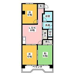 美杉マンション[3階]の間取り