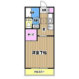 メルベーユA棟[2階]の間取り